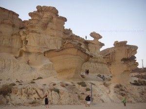 Gredas de Bolnuevo Mazarron 300x225 Lugares imprescindibles de la Región de Murcia