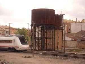 Estacion Tren Murcia depositos agua1 300x225 La Asociación Murciana de Amigos del Ferrocarril quiere un Museo Ferroviario para Murcia
