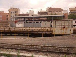 Estacion Tren Murcia puente giratorio1 300x225 La Asociación Murciana de Amigos del Ferrocarril quiere un Museo Ferroviario para Murcia