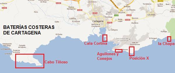 Baterias Militares Costa Cartagena Las baterías costeras que defienden Cartagena