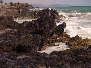 Percheles Mazarron Murcia 300x225 Percheles y su paradisíaca playa a vista de dron