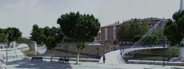 Puente Viejo Manterola Murcia CarrilBici por el río Segura a su paso por Murcia