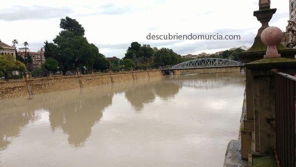 lluvias Murcia diciembre 2016 El río Segura, una amenaza para la Catedral