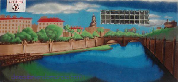 Rio Segura Puente de los Peligros Murcia1 Mural del rio Segura y el Puente Viejo