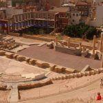 Hasta el 2020 no se recuperará el pórtico del Teatro Romano de Cartagena