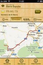 GeoSenderos Murcia GeoSenderos, aplicación para iPhone y Android