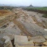La rambla de las Moreras de Mazarrón tras las lluvias