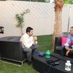 El periodista Samuel Linares entrevista al ciclista Alejandro Valverde