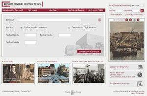 Archivo General Region Murcia Archivo General de la Región Murcia, estrena nueva web