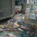 Las fotos del desastre en la Muralla de Murcia y el Mercadillo de las Anas