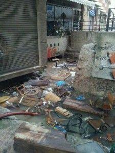 Mercadillo de las Anas Murcia 225x300 Las fotos del desastre en la Muralla de Murcia y el Mercadillo de las Anas