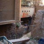 La Muralla Medieval de Murcia, partida por la mitad