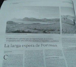 Bahia de Portman regeneracion 300x268 ¿Para cuando la regeneración de la Bahía de Portmán?