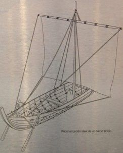 Barco Fenicio dibujo 243x300 Los naufragios fenicios y romanos en el Bajo de la Campana