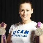 La nadadora Mireia Belmonte en la UCAM