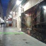 El muro que dividió la ciudad de Murcia, en la calle Trapería