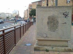 escudo San Pio X Murcia Desaparece un escudo del barrio San Pio X en Murcia