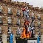El monumento a la Sardina, preparado para ser quemado