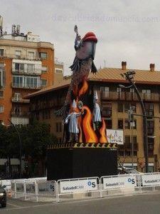 Entierro de la Sardina Murcia 225x300 El monumento a la Sardina, preparado para ser quemado