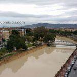 río Segura por Murcia. Lluvias diciembre 2016