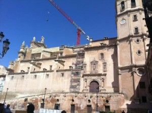 Colegiata San Patricio Lorca 300x224 La Colegiata San Patricio, no estará lista para la Semana Santa de Lorca