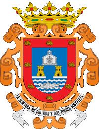 Escudo de San Javier Murcia1 El escudo de San Javier, su albufera y las dos torres