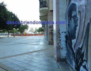 Jose Maria Parraga graffiti Murcia Un graffiti con el pintor Párraga por protagonista