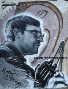 pintor Jose Maria Parraga Murcia 229x300 Un graffiti con el pintor Párraga por protagonista