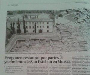 yacimiento de San Esteban Murcia ABC 300x251 El yacimiento de San Esteban, noticia de nivel nacional