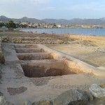 Conjunto romano en la playa del Alamillo en Mazarrón