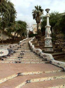 mosaicos rincon de Casuco Aguilas 224x300 El jardín de Casuco en Águilas, al más puro estilo Gaudí