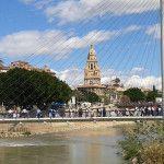Calle Cartagena y el antiguo puente que cruzaba el Segura