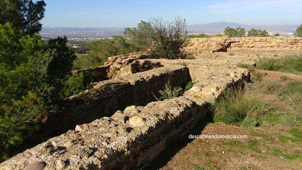 ruinas Castillo del Portazgo. Puerto de La Cadena, Murcia.