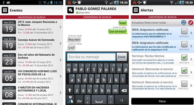 Universidad de Murcia App 2 Universidad de Murcia App, imprescindible para universitarios