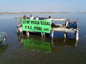 Pesca San Pedro del Pinatar Pescadores furtivos en La Encañizada del Mar Menor