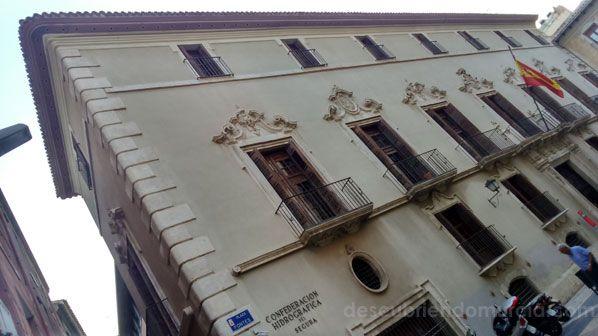 Confederacion Hidrografica del Segura Murcia Palacio de los Fontes en la ciudad de Murcia