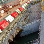 El destruido puente del Conde de Floridablanca en Aljucer