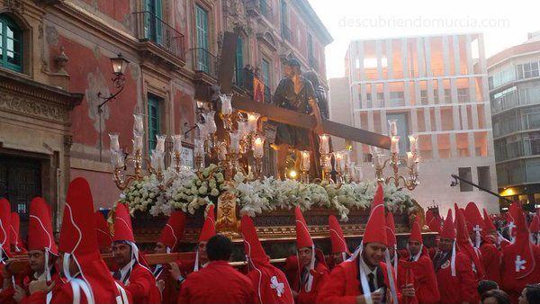 Los Coloraos Murcia Miercoles Santo Carmen La Sangre Cofradía de La Sangre, los Coloraos y San Vicente Ferrer