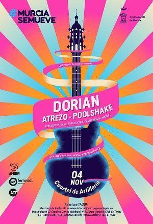 Murcia Se Mueve. La música de Dorian, Atrezo y Poolshake abren la V Edición
